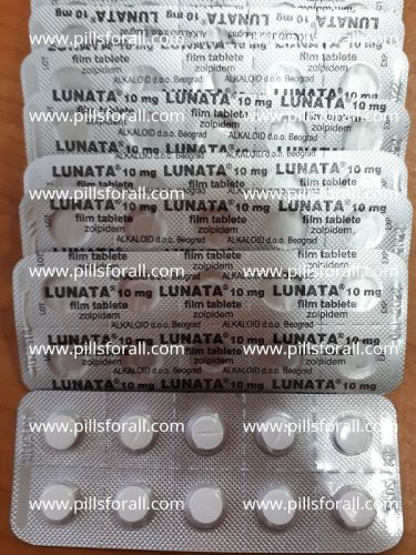 Ambien generic Lunata zolpidem 10mg  x 100 tabs. Delivery from EU
