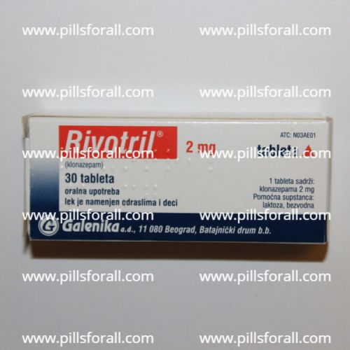 Klonopin/Rivotril (Clonazepam)  by Galenika labs 2mg  x 250. Delivery from EU