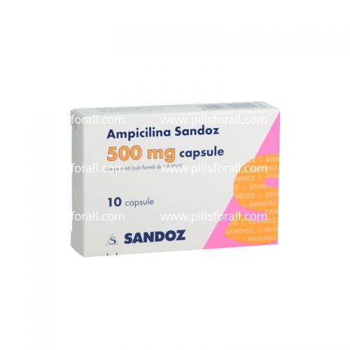 Ampicillin by Antibiotice 500 MG  x 80 PILLS