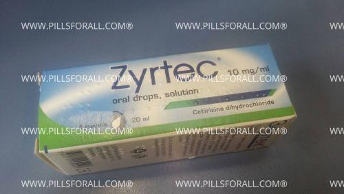 Zyrtec Cetirizine drops 1 % x 20ml x 6 bottles